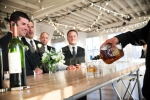 men at the bar | Lavish Greek Wedding by Pravda Events | Photography by Barbie Hull